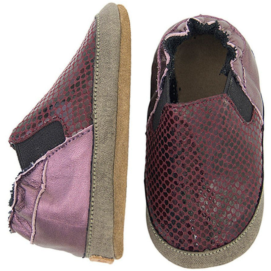 melton slip on soft sole maroon