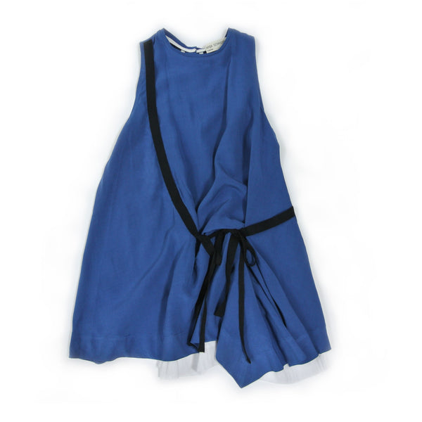 treehouse alara hope sleeveless asymmetric dress blue - kodomo boston, fast shipping.