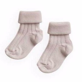 belle enfant turn top socks petal pink - kodomo boston, belle enfant accessories, new belle enfant, newborn socks