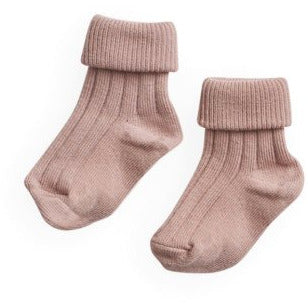 belle enfant turn top socks rose
