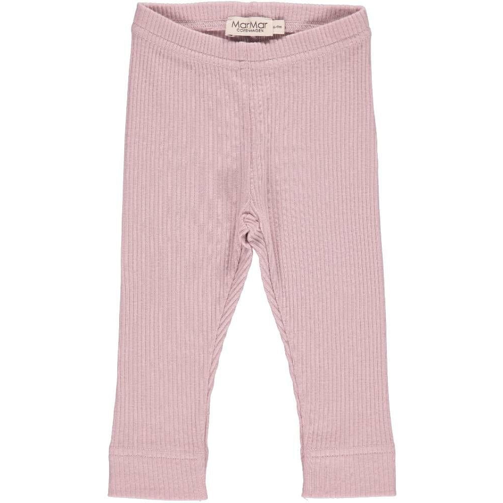 marmar copenhagen ribbed faded rose leggings - kodomo