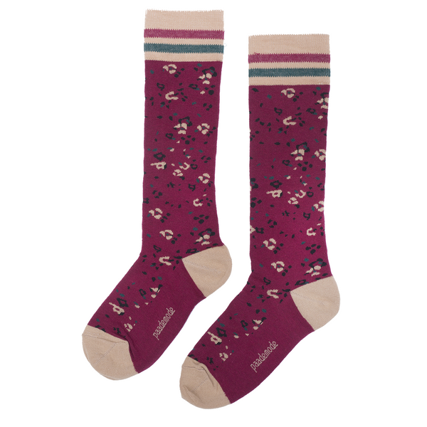 paade mode joni cotton socks burgundy - kodomo boston, fast shipping, new paade mode accessories collection