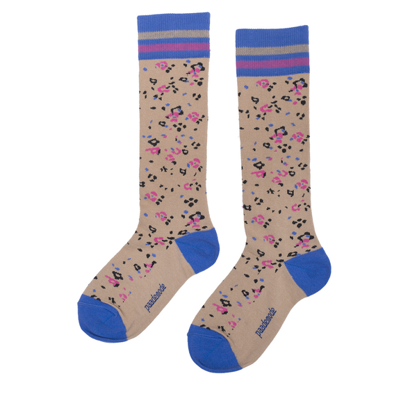 paade mode joni cotton socks tan - kodomo boston, fast shipping, kids socks