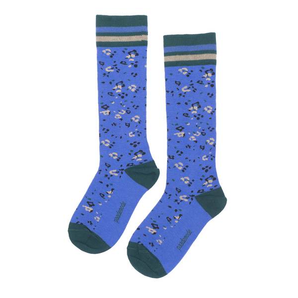 paade mode joni cotton socks blue - kodomo boston, fast shipping, girls and boys socks