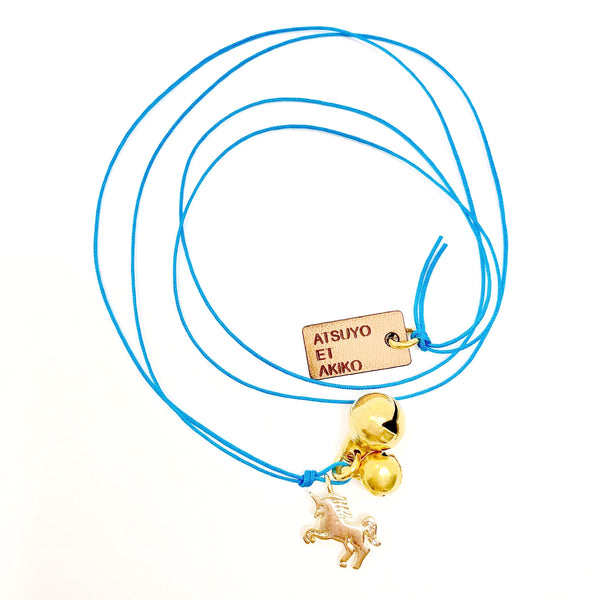 atsuyo et akiko new girls collection unicorn necklace blue - free fast shipping on all orders over $99 from kodomo