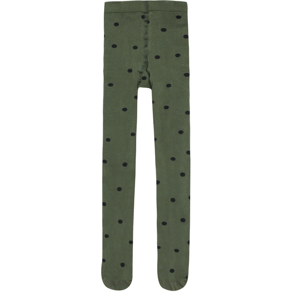 tinycottons dots tights green wood/black - kodomo boston,fast shipping