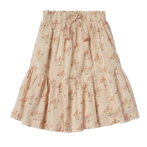 bonheur du jour ambre skirt nude, spring summer 2020 girls skirts and clothing from bonheur du jour at kodomo boston, free shipping