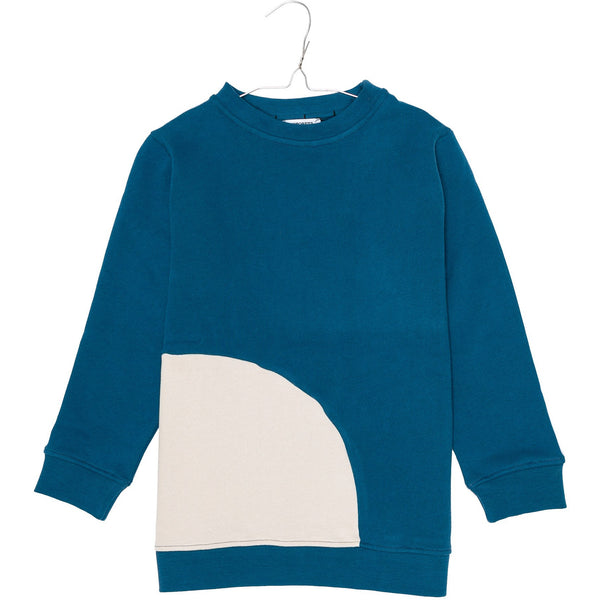 motoreta baby long sweatshirt blue & off white - kodomo boston, fast shipping, new motoreta baby collection