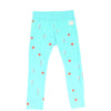 indikidual flag print legging pale blue - kodomo boston, fun kids leggings, flag print kids bottoms, fast shipping