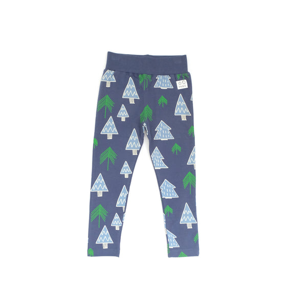 indikidual forest tree print legging navy blue - kodomo boston, free shipping on orders over $99