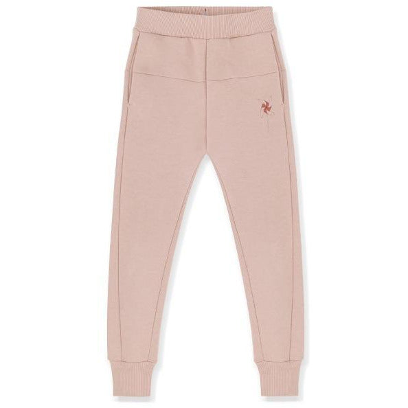 kids on the moon heather sweatpants, children's bottoms, pink joggers