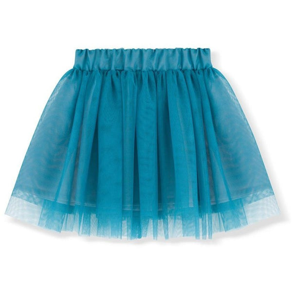 kids on the moon tutu skirt aquamarine, girls bottoms, tulle layered skirts blue