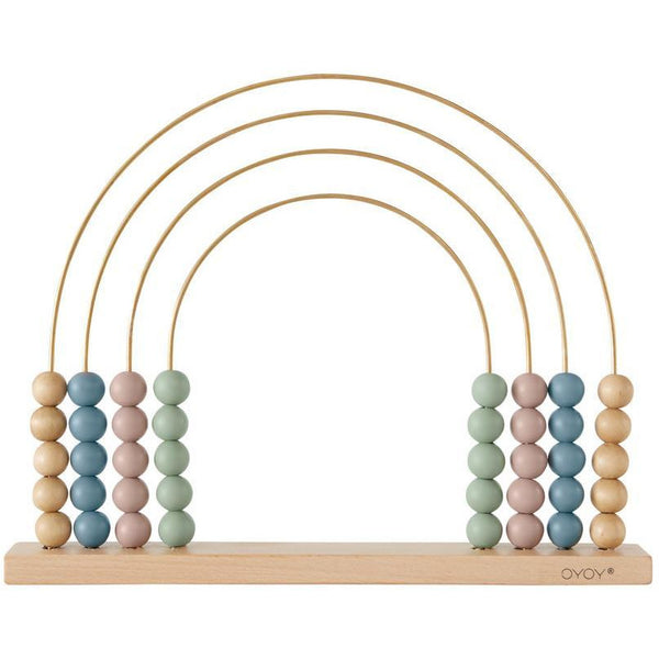 oyoy mini abacus rainbow, wooden toys for kids at kodomo boston