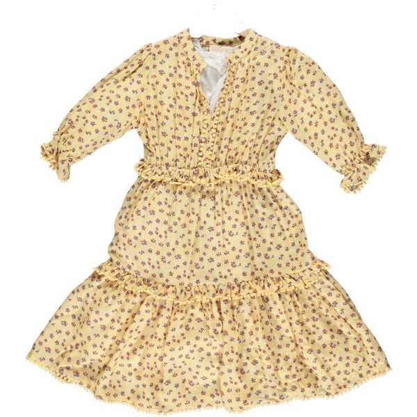 simple kids agra dress yellow, free shipping kodomo boston