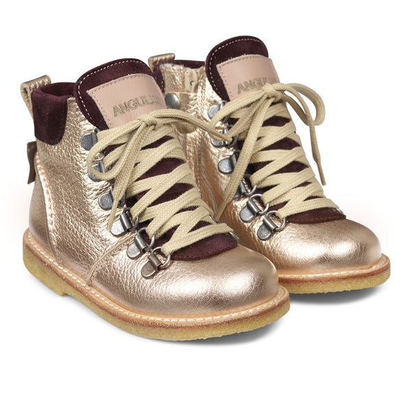 angulus tex boot with zip and lace - kodomo boston. free shipping.