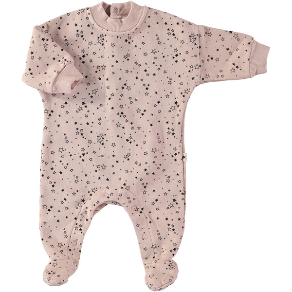 my little cozmo baby romper powder - kodomo boston, footed one-piece for babies