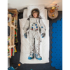snurk astronaut duvet cover set twin, imaginative creative fun bedding kids bedroom decor, fast free shipping at kodomo boston
