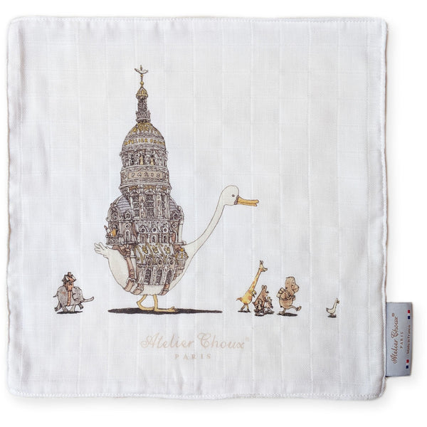 atelier choux mini towel,  ethical and beautiful baby accessories and blankets made in france at kodomo boston, fast shipping.