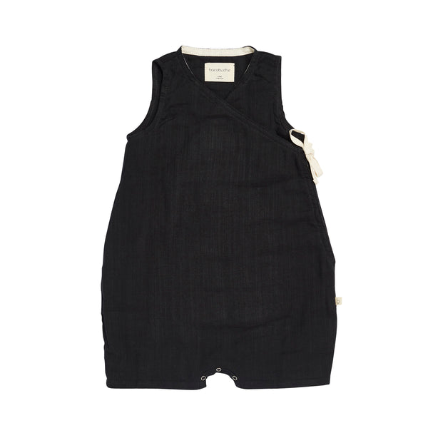 bacabuche sleeveless romper black - kodomo