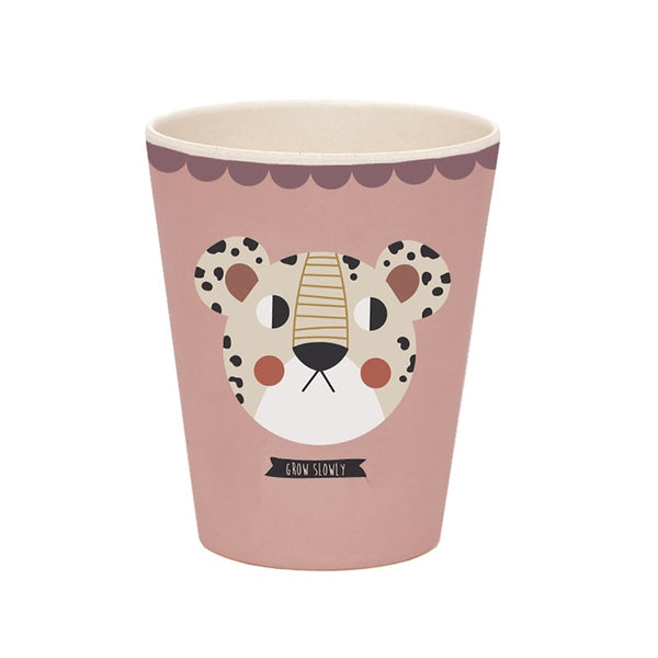 studio loco leopard bamboo cup, kids eco-friendly tableware