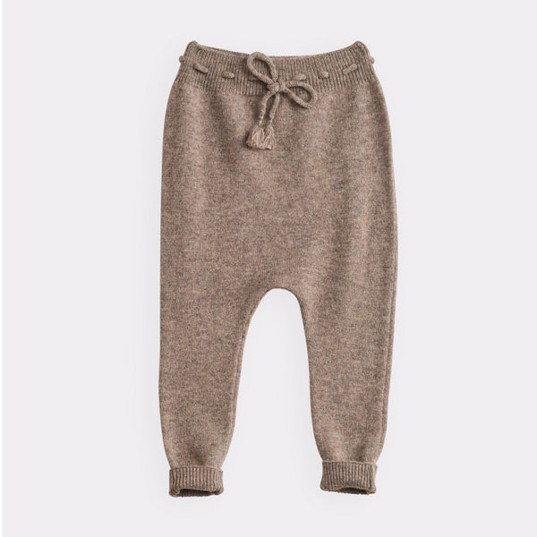 belle enfant footless legging mid-brown marl, sustainable soft styles for children babies toddler, 2020 fall winter fashion collections at kodomo boston free shipping