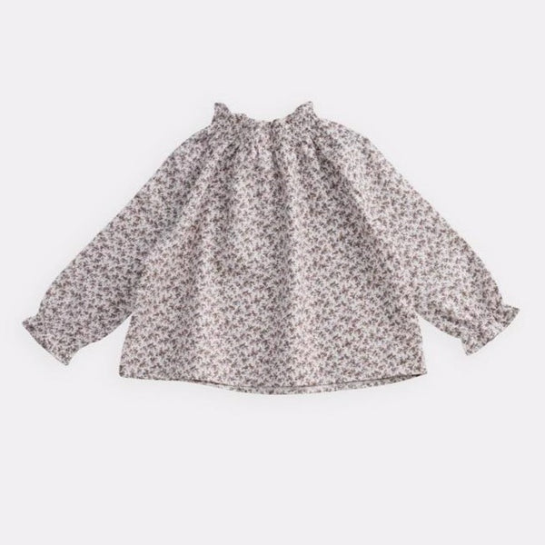 belle enfant sabine blouse brown floral, tops shirts classic styles for baby kids girls, new fall winter collection at kodomo boston free shipping