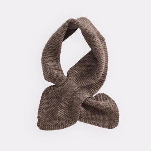 belle enfant twist scarf mid-brown marl, new fall winter fashion collection accessories for baby kids at kodomo boston, free shipping