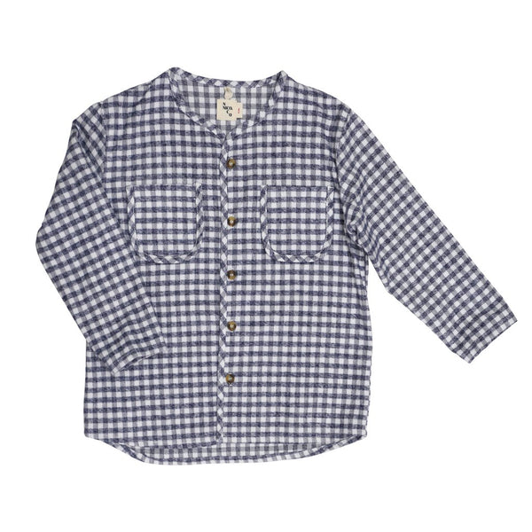 nico nico plaid flannel kids shirt. made in the usa. free shipping from kodomo boston