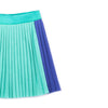 barn of monkeys pleated mini skirt gum green