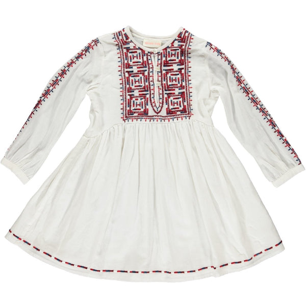 simple kids barcelona dress red, free shipping kodomo boston