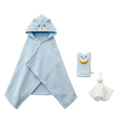 miki house bath time gift set blue - kodomo boston