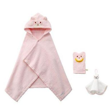 miki house bath time gift set pink - kodomo boston