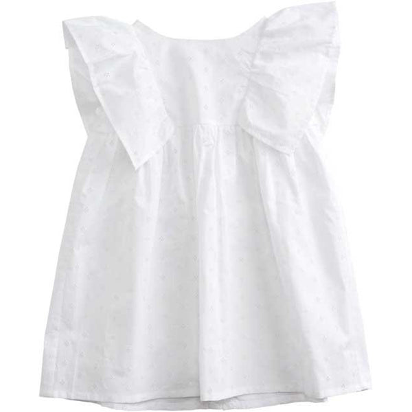 belle enfant angel dress broderie anglaise white - kodomo boston, new belle enfant, summer white girls dresses, white girls dresses, flower girl dresses.