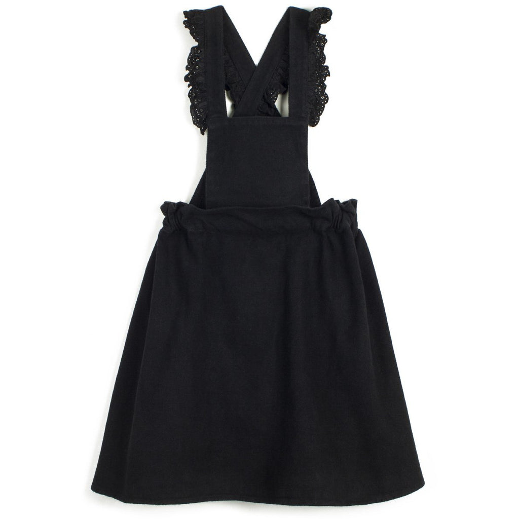 wolf & rita carmen denim black dress, minimalistic trendy new fashions for children girls at kodomo boston, free shipping