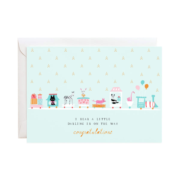 mr. boddington's studio baby shower card