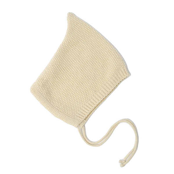 na pa ani coco baby bonnet cream, knit accessories for babies