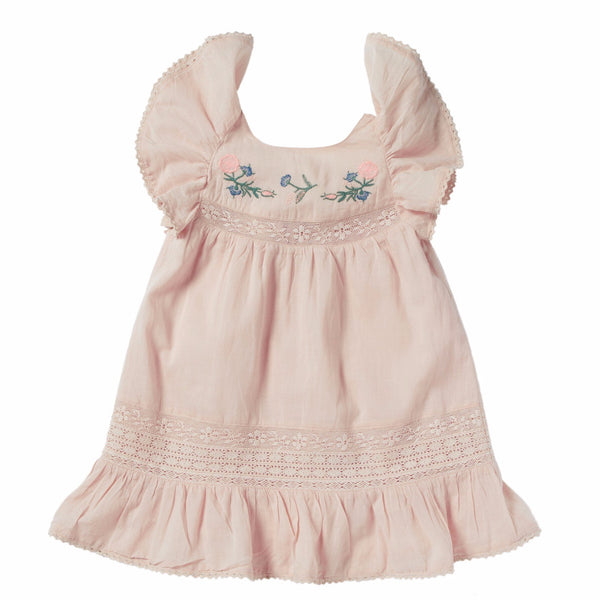 bonheur du jour coralie dress pink, spring summer 2020 girls skirts and clothing from bonheur du jour at kodomo boston, free shipping