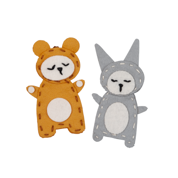 fabelab charm craft bunny + bear, sustainable kids toys