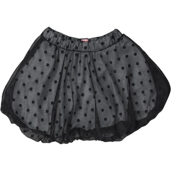 wauw capow by bang bang copenhagen cloud skirt black white dots, ethical girls and kids clothing for fall winter 2020 at kodomo boston, free shipping