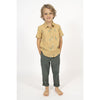 simple kids palu shirt mustard, free shipping kodomo boston