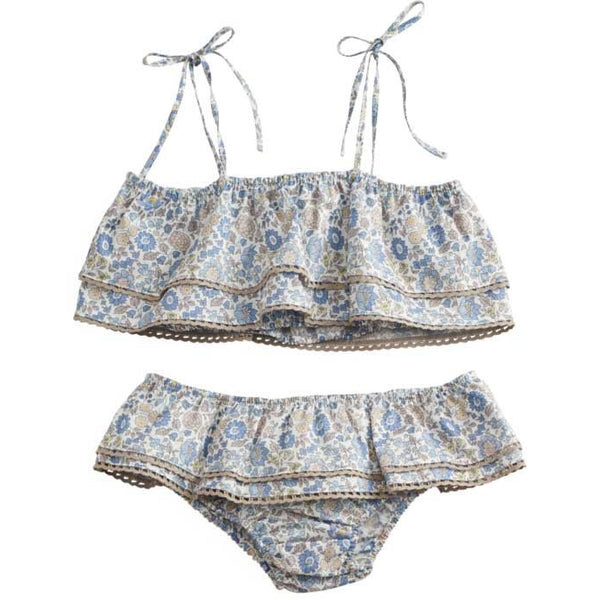 belle enfant ruffle bikini set liberty d'anjo - kodomo boston, girls swimsuits, kids bikini, new belle enfant collection.