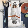 snurk rocket duvet cover set twin, fun bedding bedroom decors for kids inspire imagination, fast free shipping at kodomo boston