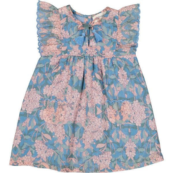louis louise annette dress multicolor, ethical spring summer baby clothing from french brand louis louise at kodomo boston, free shipping