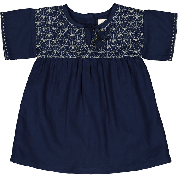 louis louise baby moly dress navy