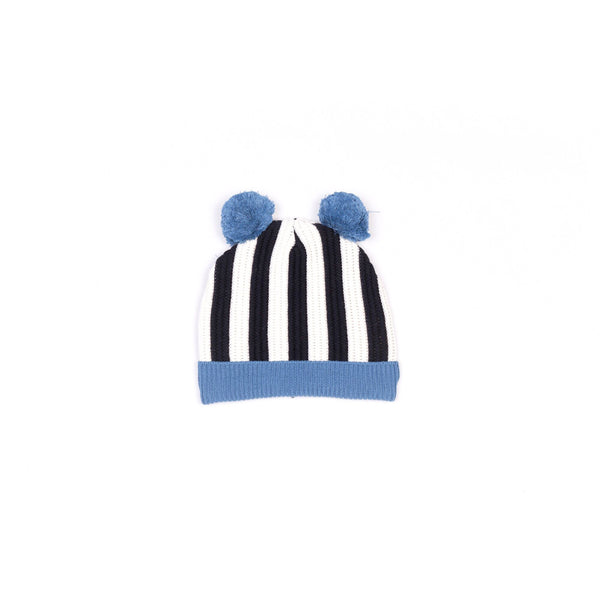motoreta puppy knitted hat black/off white/light blue - kodomo