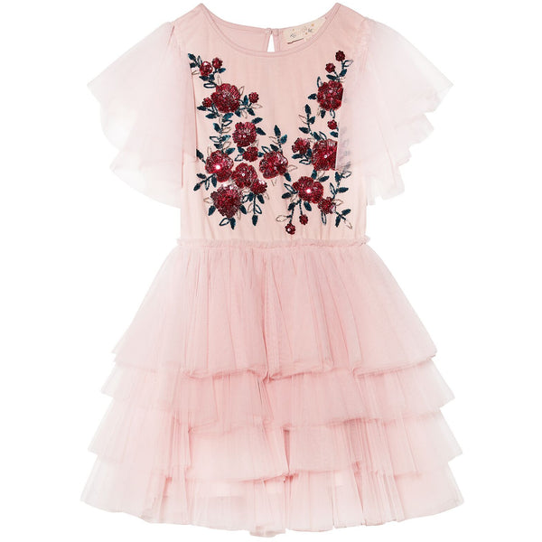 tutu du monde ruby roses tutu dress porcelain pink - kodomo boston, free shipping.