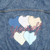 hundred pieces love yourself denim jacket