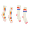 hundred pieces striped sock set white, socks and accessories for tweens and kids at kodomo boston, free shipping