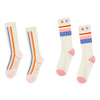 hundred pieces striped sock set white