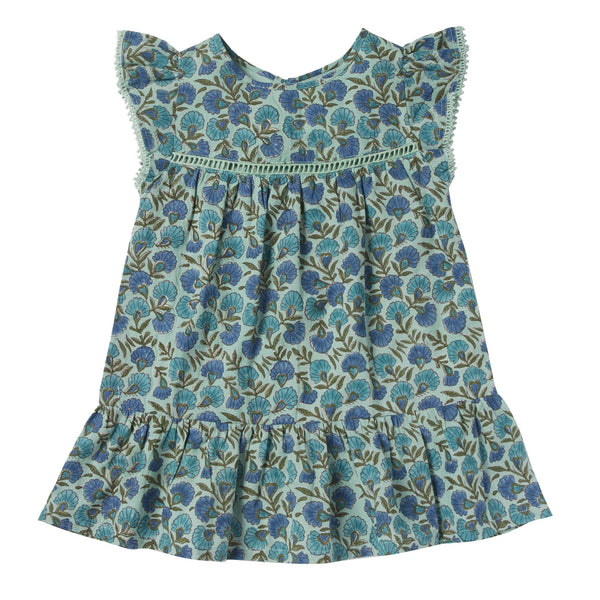 bonheur du jour gentiane dress green, spring summer 2020 girls skirts and clothing from bonheur du jour at kodomo boston, free shipping